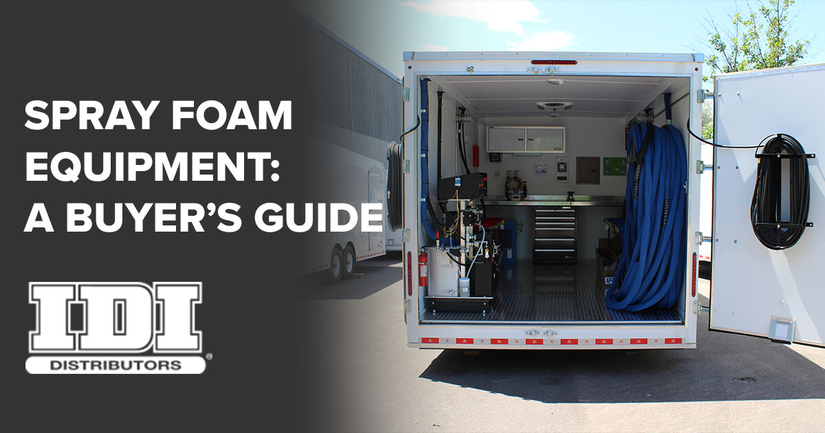 how to pick a spray foam equipment supplier